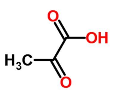 fórmula del ácido pirúvico