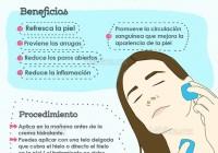 tratamiento facial con hielo